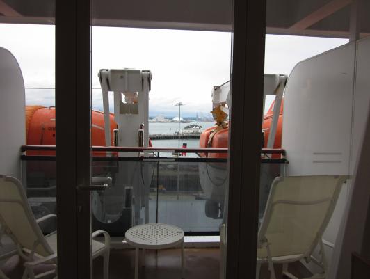 Cruzeiros maritimos i cruzeiros cabine vista obstruida for Sheltered balcony qm2