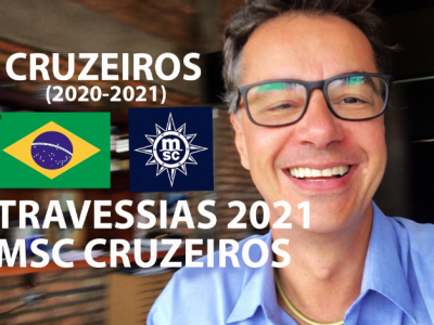 TRAVESSIAS 2021 MSC CRUZEIROS